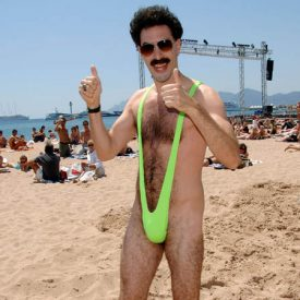 "Image #: 2234336    Ali G as ""Borat"" at the 59th Cannes Film Festival at Le Goeland Beach Cannes France May 24,  2006. Fitzroy Barrett /Landov"